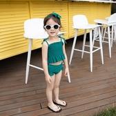 兒童泳衣女韓國分體可愛寶寶 女童泳裝小公主裙式中大童游泳衣