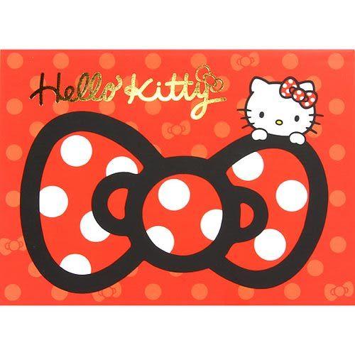 ★funbox生活用品★《Sanrio》HELLO KITTY緞帶文具系列A6便條本(紅) UA42399
