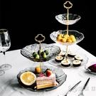 ins雙層網紅 水果盤糖果盤創意個性時尚現代客廳下午茶點心架歐式 小時光生活館