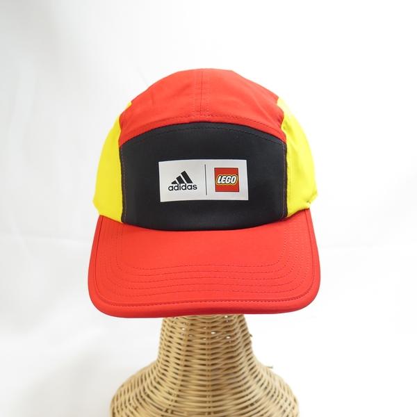ADIDAS LEGO CB CAP 棒球帽 運動帽 GM4535 橘x黃 單一尺寸 後可調【iSport愛運動】