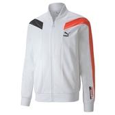 PUMA 女款白色流行系列T7 2020 SPORT立領外套-NO.59879802
