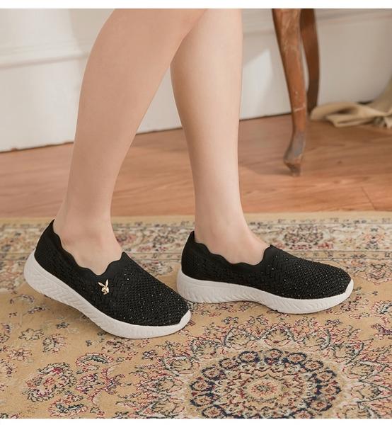 PLAYBOY 銀河美鑽 襪套休閒鞋-黑(Y6729)