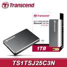 【免運費】Transcend 創見 StoreJet 25C3 1TB USB3.0 鋁殼 行動硬碟 (TS1TSJ25C3N) 1T SJ25C3N