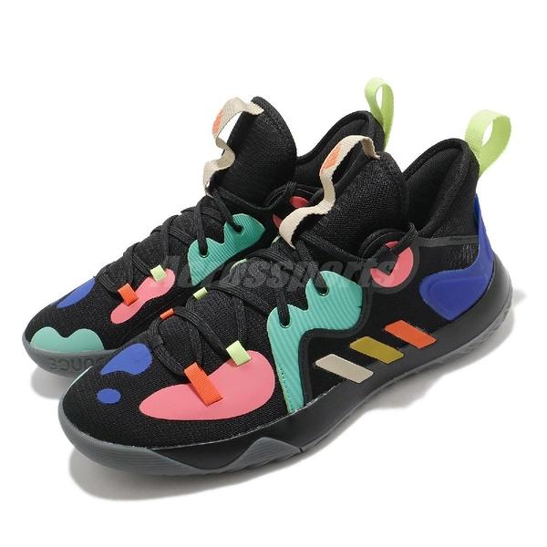 adidas 籃球鞋 Harden Stepback 2 黑 彩色 哈登 大鬍子 男鞋 【ACS】 FZ1069
