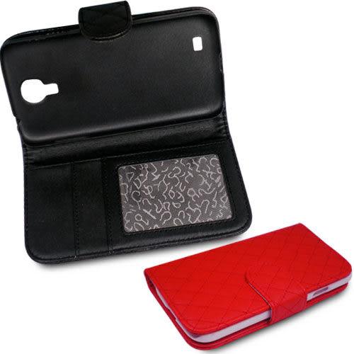 ★5 折限量特惠★Samsung S4 i9500 格菱紋支架造型皮套+ 螢幕保護貼   (郵寄免運)