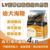 買就送1LB - LV藍帶無穀濃縮天然狗糧- 4LB(1.8kg) - 幼犬‧母犬 (海陸+膠原蔬果)