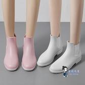 成人雨鞋 夏季防水時尚雨鞋女套鞋韓國雨靴成人防滑水鞋短筒水靴膠鞋 4色 35-40