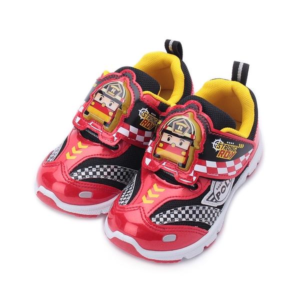 救援小英雄 ROY 羅伊 電燈運動鞋 紅 POKX01252 中童鞋