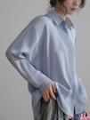 熱賣垂感襯衫 職業白色襯衫女氣質設計感小眾春秋新款長袖高級垂感雪紡衫上衣 coco