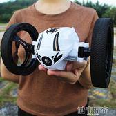 玩具車 彈跳遙控汽車充電越野車機器人特技翻滾跳跳四驅男孩賽車兒童玩具 JD 聖誕節狂歡