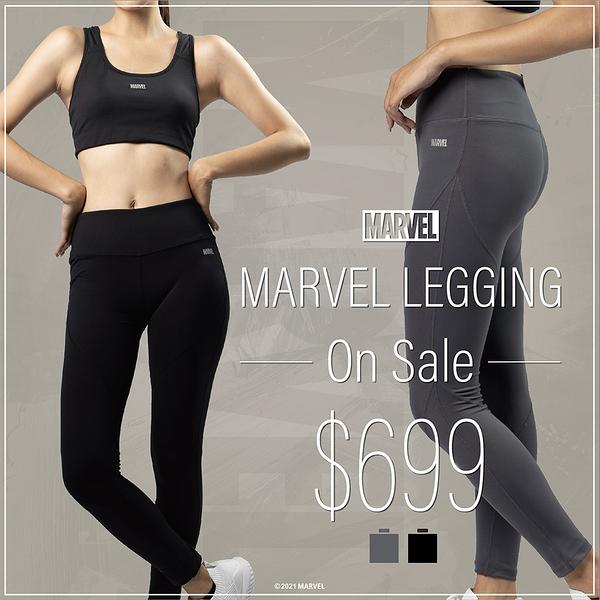MARVEL漫威服飾 女生緊身褲 內搭褲 運動瑜伽褲 機能運動服飾 高彈性 [M202508]