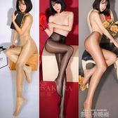 兩雙裝! 性感高腰油亮油光情趣內衣黑絲襪女騷開襠免脫透明連褲襪 依凡卡時尚