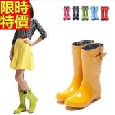 中筒雨靴-時尚簡約流行糖果色女雨鞋7色66ak21[時尚巴黎]