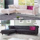 【水晶晶家具】賈斯汀276cm皮面拉扣L型沙發~~二色可選CX8388-1