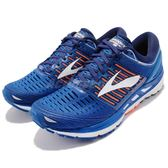 Brooks 慢跑鞋 Transcend 5 藍 橘 白 避震穩定 男鞋 運動鞋 【PUMP306】 1102761D463
