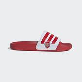J- adidas Adilette Shower 紅 白 男鞋 兵工廠 足球系列 運動拖鞋 涼鞋 涼拖鞋 EG1212