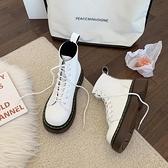 馬丁靴 馬丁靴女英倫風2021年新款夏季薄款厚底潮ins白色瘦瘦春秋單短靴 美物
