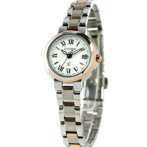 免運費 日本正規貨 公民 XC 太陽能無線電鐘 女士手錶 ES9004-52A