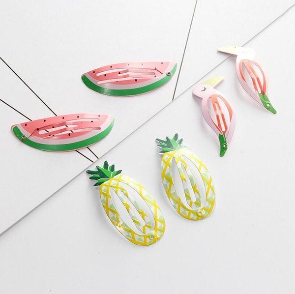 韓國 菠蘿 西瓜 水果 鳳梨 BB夾 頂夾 日韓 簡約 瀏海 髮卡 髮夾 邊夾 頭飾品 髮飾