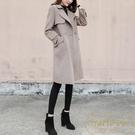 大衣外套女韓版寬鬆毛呢外套中長款時尚潮流【繁星小鎮】