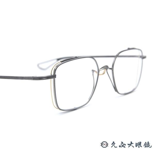 DITA 頂級眼鏡品牌 DTX124 (鐵灰-金) 鈦 全新技術 旋轉中樑 近視眼鏡 久必大眼鏡