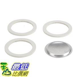 [美國直購] 摩卡壺 耗材 Bialetti Packaging 3膠圈+不鏽鋼濾網 三杯_Z02