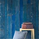 客廳壁紙【荷蘭牆紙】 藍色木紋