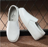 樂福鞋新款真皮樂福鞋女一腳蹬鞋女懶人鞋女平底單鞋休閒小白鞋板鞋  寶貝計畫
