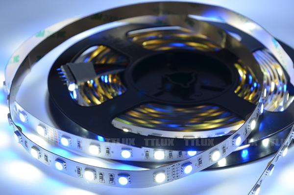 5050軟燈條5米300燈(全配) RGB+W 滴膠防水(新產品)
