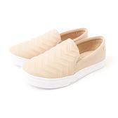 Petite Jolie V型紋厚底休閒鞋-粉膚