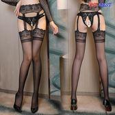 吊帶絲襪 情趣內衣 性感 包芯絲 黑絲襪 吊襪帶 一體套裝 透視