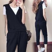休閒套裝 夏裝新款時尚套裝胖mm短袖上衣顯瘦大碼女裝LJ7930『小美日記』