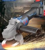 切割機 無刷充電式角磨機鋰電池打磨機多功能切割機拋光機家用手磨機