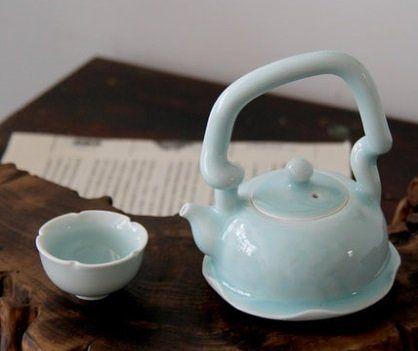 影青瓷蓮花茶具純手工製作景德鎮茶具