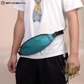 男士腰包運動跑步手機包戶外休閒胸包單肩斜挎包帆布包潮男小包包