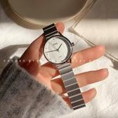 NONOAN 原創手錶女學生ins風森系復古文藝簡約竹節帶鏈條石英手錶 智慧e家