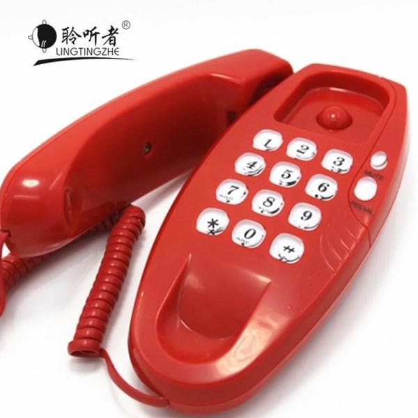 聆聽者品牌掛壁電話機掛墻小型電話分機家用床頭酒店廁所電梯掛機 快速出貨