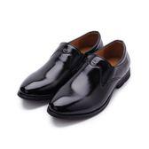 SARTORI 仿皮套式尖頭紳士鞋 黑 男鞋 鞋全家福