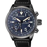 CITIZEN 星辰 限量GPS衛星對時光動能手錶-藍x黑/44mm CC3067-11L