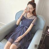 連身裙新款韓版淑女氣質V領