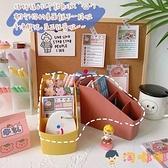 日系筆筒桌面整理收納盒化妝刷收納置物架【淘嘟嘟】
