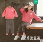 女童套裝 2019秋裝洋氣套裝兒童女秋季時尚休閑純色兩件套 YN1235『寶貝兒童裝』