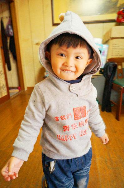 ★亞偲悠遊寶-yesboonbo★限量過年款刷毛帽T---圍爐篇(灰色)