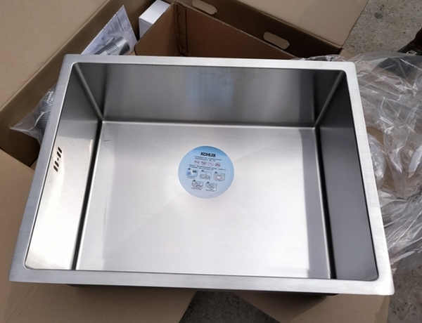 【 麗室衛浴】 美國KOHLER STRIVE 下嵌式超厚不鏽鋼單槽 (61cm) K-97830T-F-NA