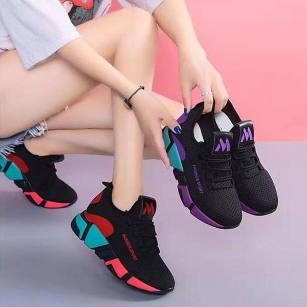 時尚輕便工作防滑黑色運動鞋舒適平底媽媽軟底健步鞋老北京布鞋女 雙11提前購
