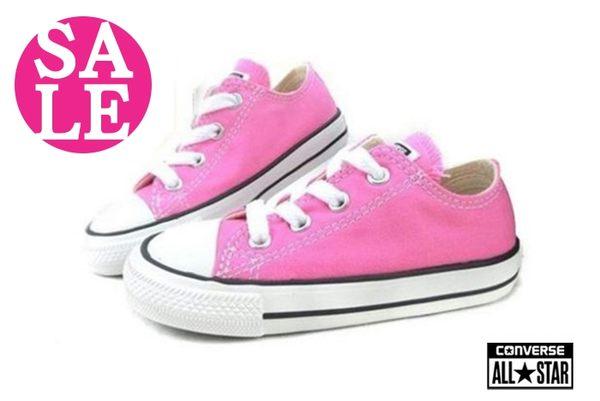 All STAR★Converse帆布鞋 小童 基本款低筒帆布鞋 零碼出清 G9815#粉◆OSOME奧森童鞋
