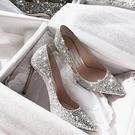 細跟性感婚紗婚鞋新娘鞋