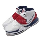 Nike 籃球鞋 Kyrie 6 EP USA 白 藍 紅 男鞋 美國隊 Irving 6代 KI6 運動鞋【ACS】 BQ4631-102