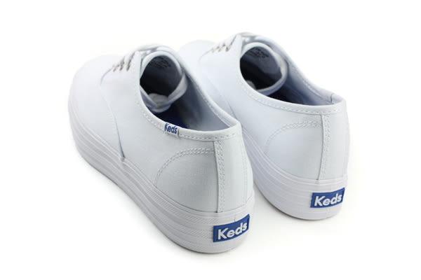 Keds TRIPLE WHITE 帆布鞋 休閒 厚底 經典款 女鞋 9171W130026 白色 no006