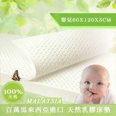 【BNS家居生活館】超Q彈100%馬來西亞涼感嬰兒乳膠床墊(60x120x5cm)